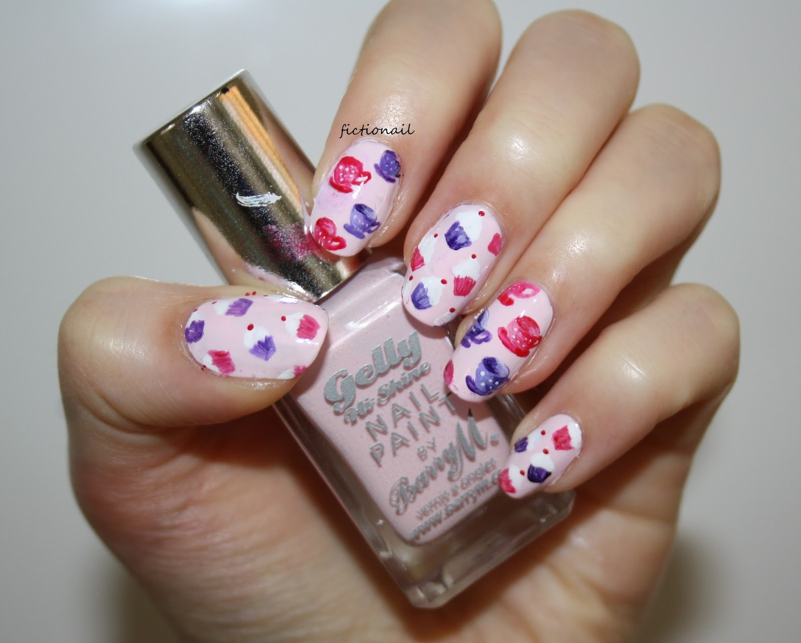 Cupcake And Teacup Nails