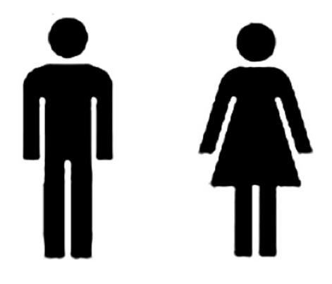 symbol för man och kvinna