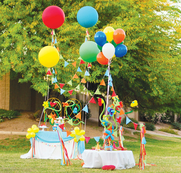 Balloon decoration for party party favors ideas for Decoration theme jardin