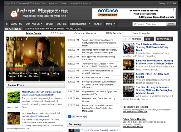 Johny magazine blogger template 25+ Best Free Magazine Blogger Templates for 2013 Download