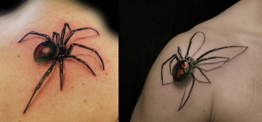 10 spider tattoos for men 3d everything about tattoos. Black Bedroom Furniture Sets. Home Design Ideas