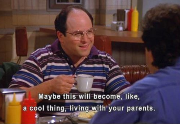 george costanza living with his parents