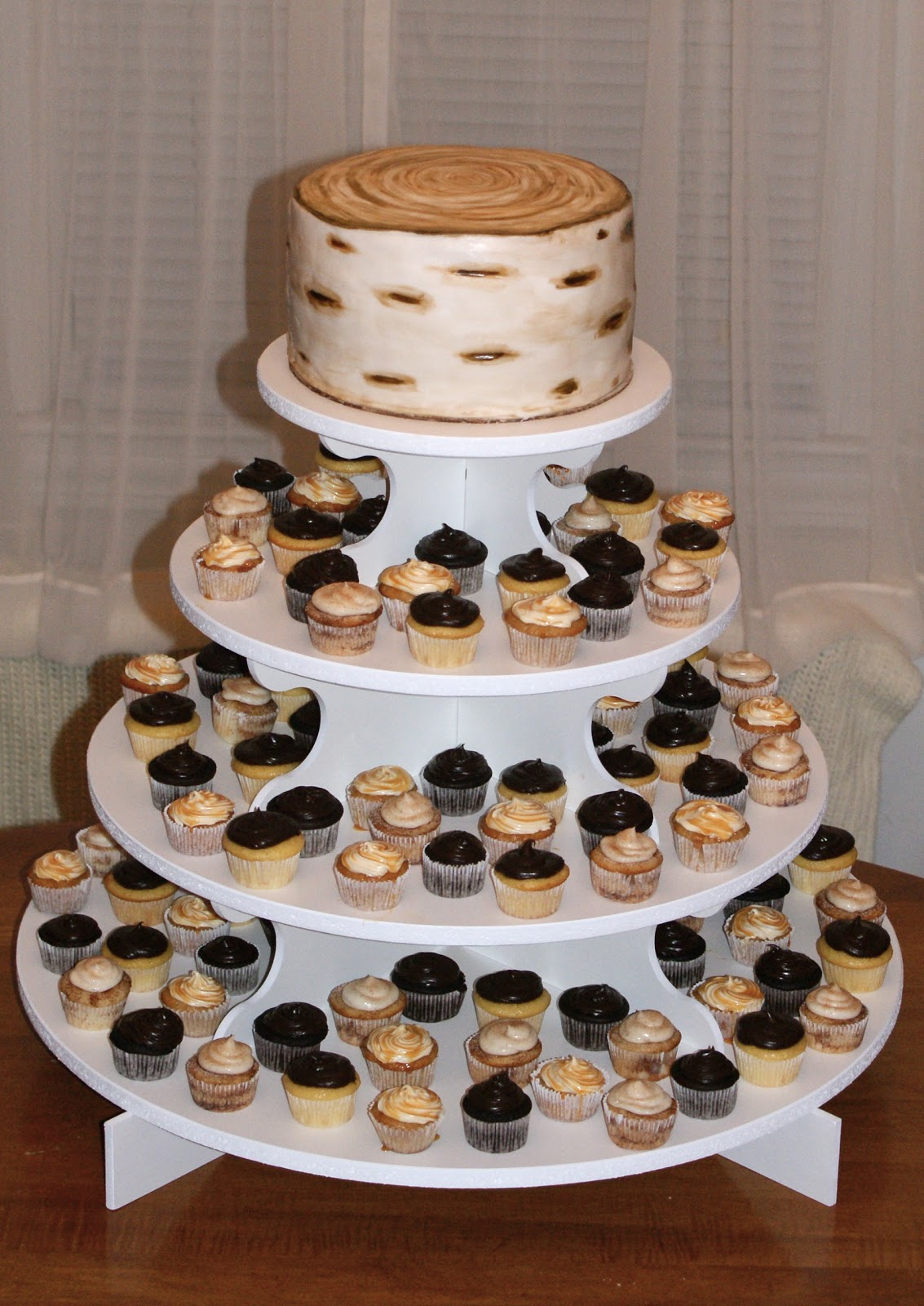 Gallery For Rustic Wedding Cupcakes