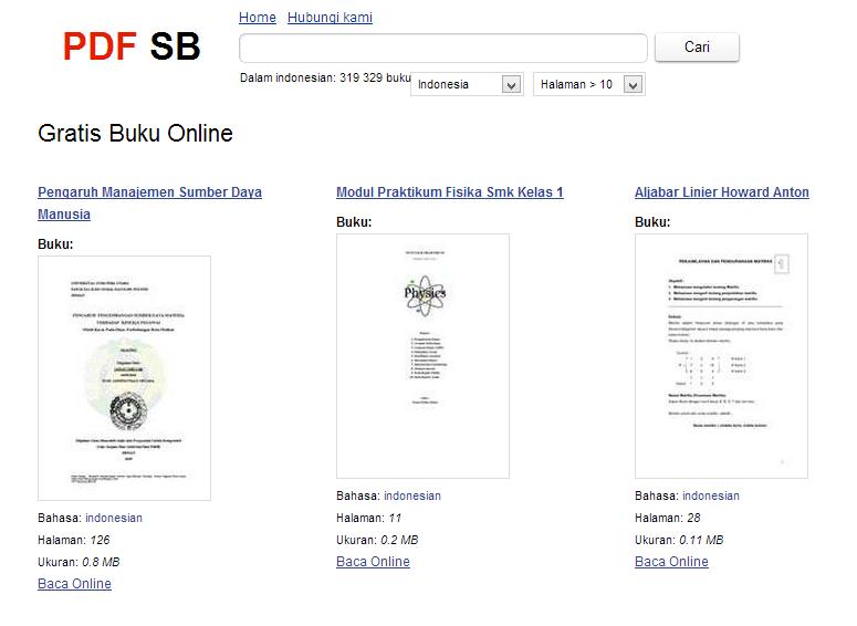 tempat download buku indonesia pdf gratis