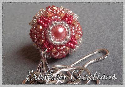 beaded ball pendant