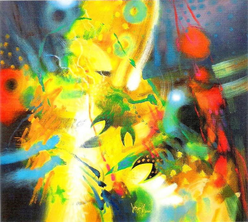 Pinturas cuadros lienzos arte abstracto moderno leo for Pintor y muralista colombiano
