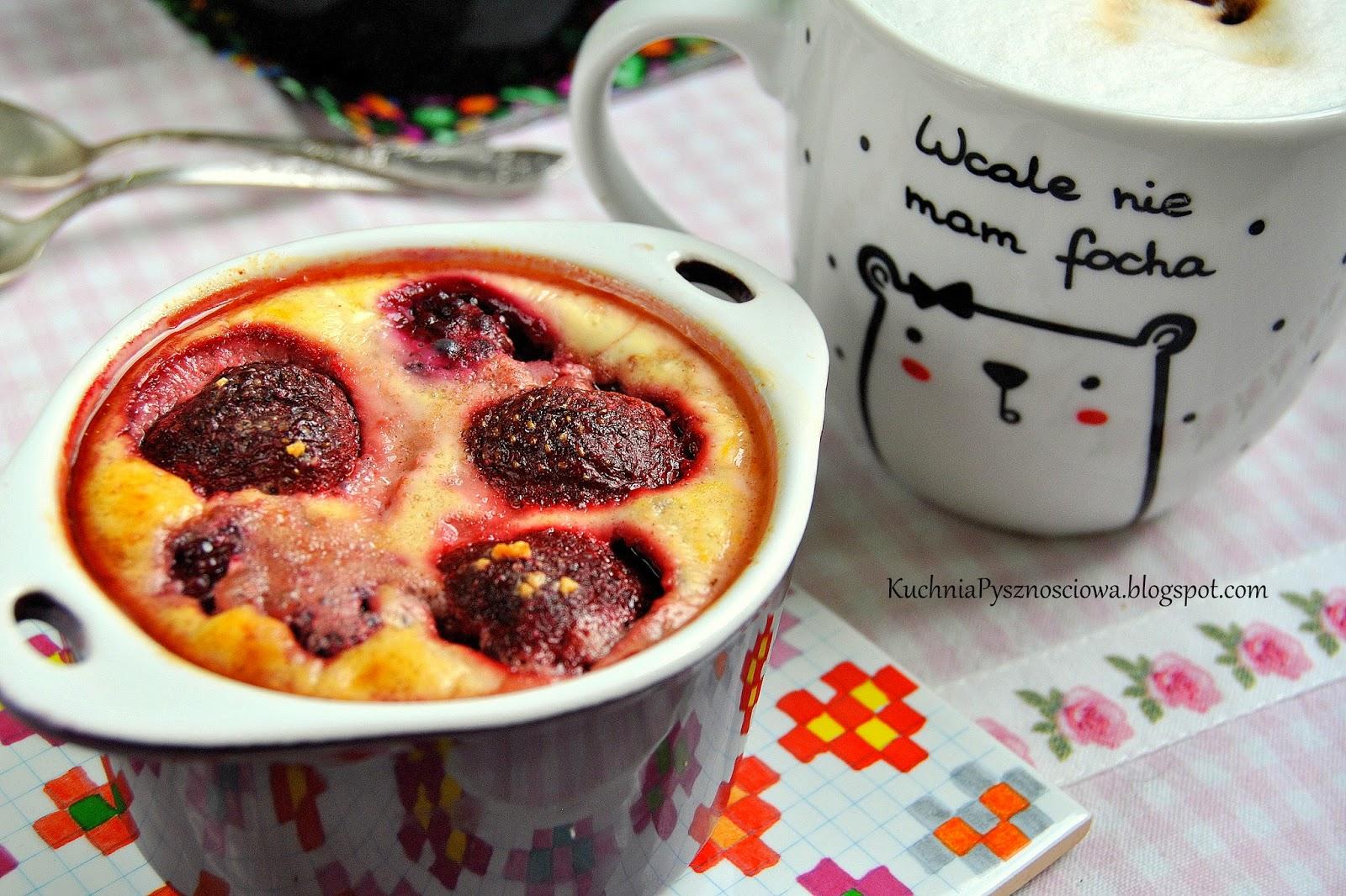 310. Zapiekana kasza pęczak z owocami i twarogiem na zdrowe śniadanie