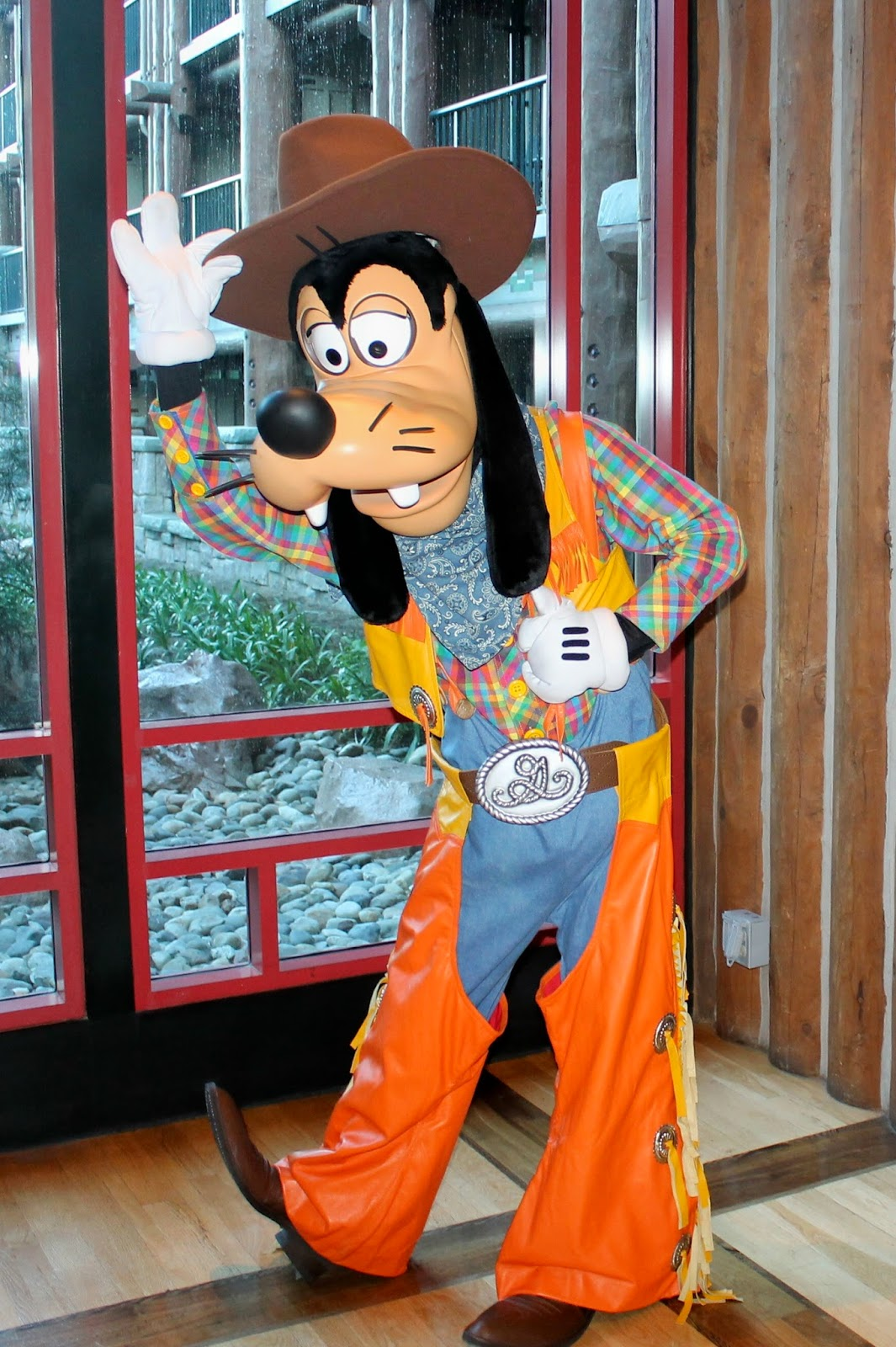 Goofy Cowboy Halloween Disney character Hunt Wilderness Lodge