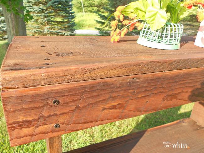 Reclaimed Wood Entry Table from Denise on a Whim