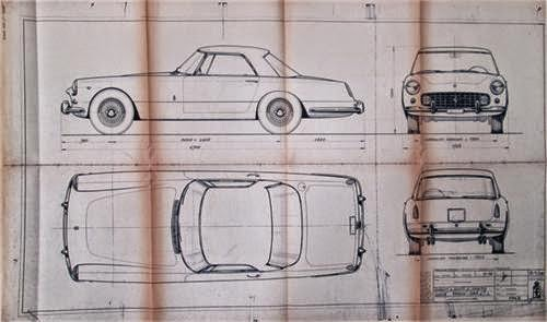 Ferrari 250 Coupe blueprint