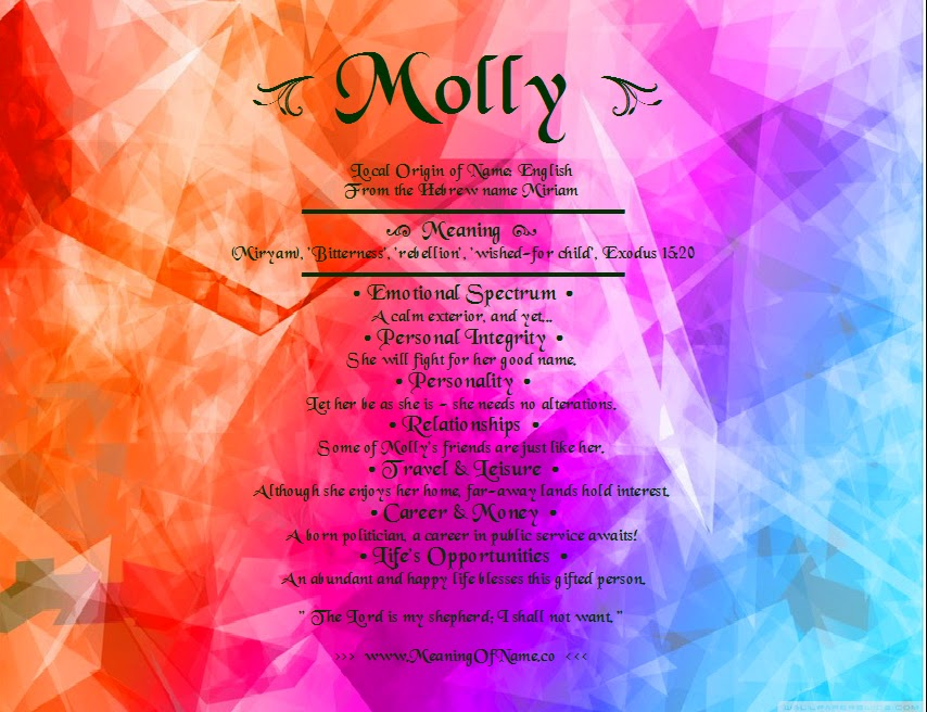 Molly - Meaning of Name
