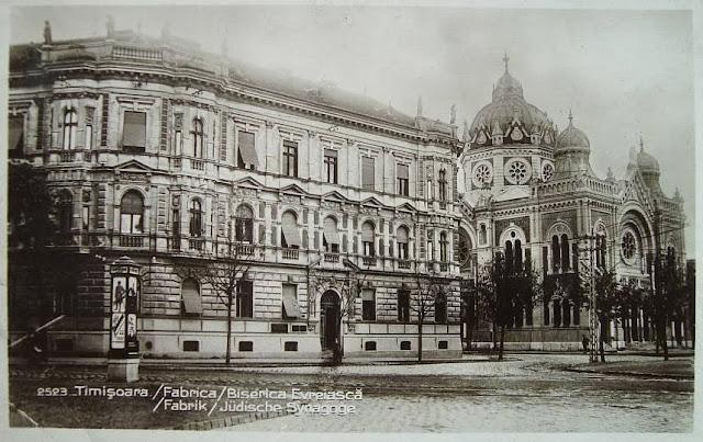 Fabrica si Biserica evreiasca din Timisoara