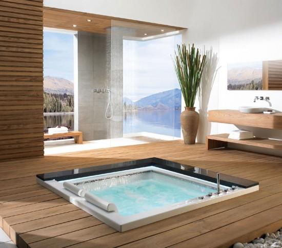 Tinas De Baño Redondas:Bañeras de hidromasaje, una tradición japonesa en el cuarto de baño