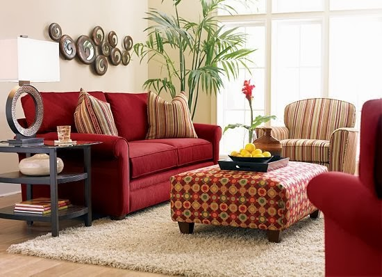 Interior colors combinations 1 beige red the grey home - Living room color schemes red couch ...