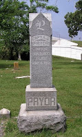 Gravestone of Capt. A. J. Pryor, son of James Pryor and grandson of Mourning Thomson Pryor