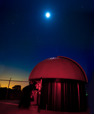 The 16-inch telescope dome at Commerce Observatory