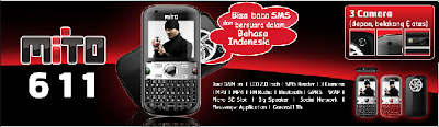 Mito 611 ponsel 3 kamera harga murah spesifikasi lumayan
