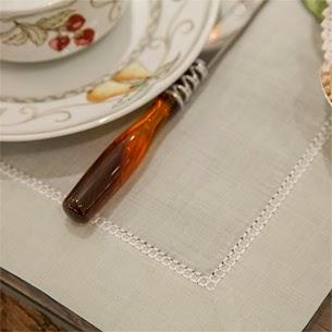 Theodora Home decoração mesa café da manha jogo americano de linho