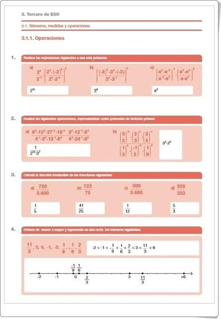 http://www.orientacionandujar.es/wp-content/uploads/2013/06/cuaderno-de-verano-matematicas-1-a-3-ESO-soluciones.pdf