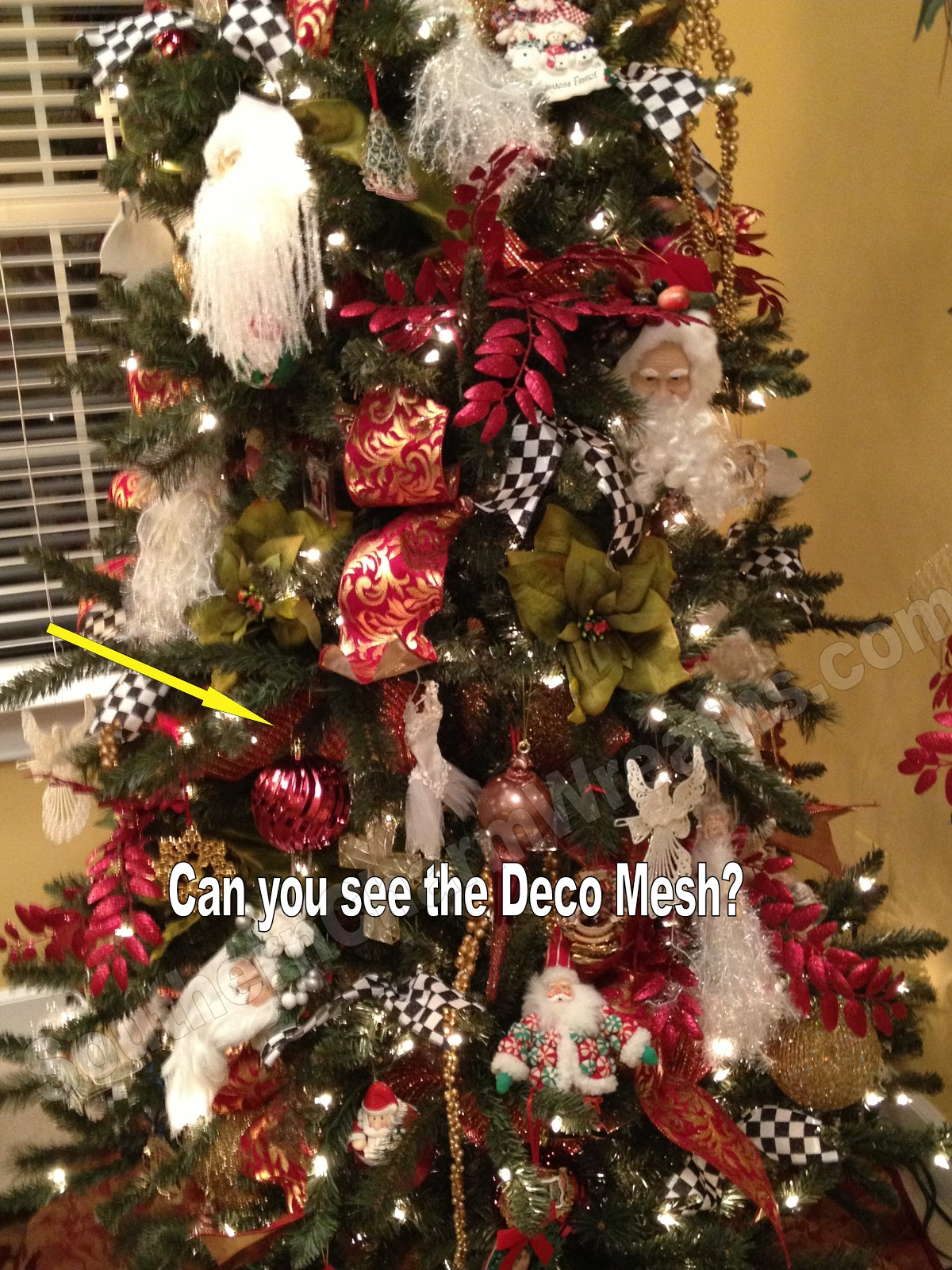 5 Ways to Add Deco Mesh to a Christmas Tree | Southern Charm Wreaths