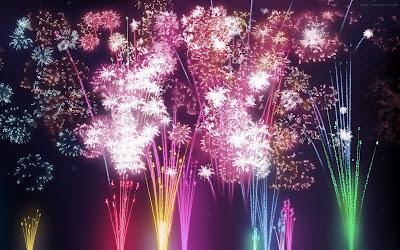 Poner fuegos artificiales blog blogger