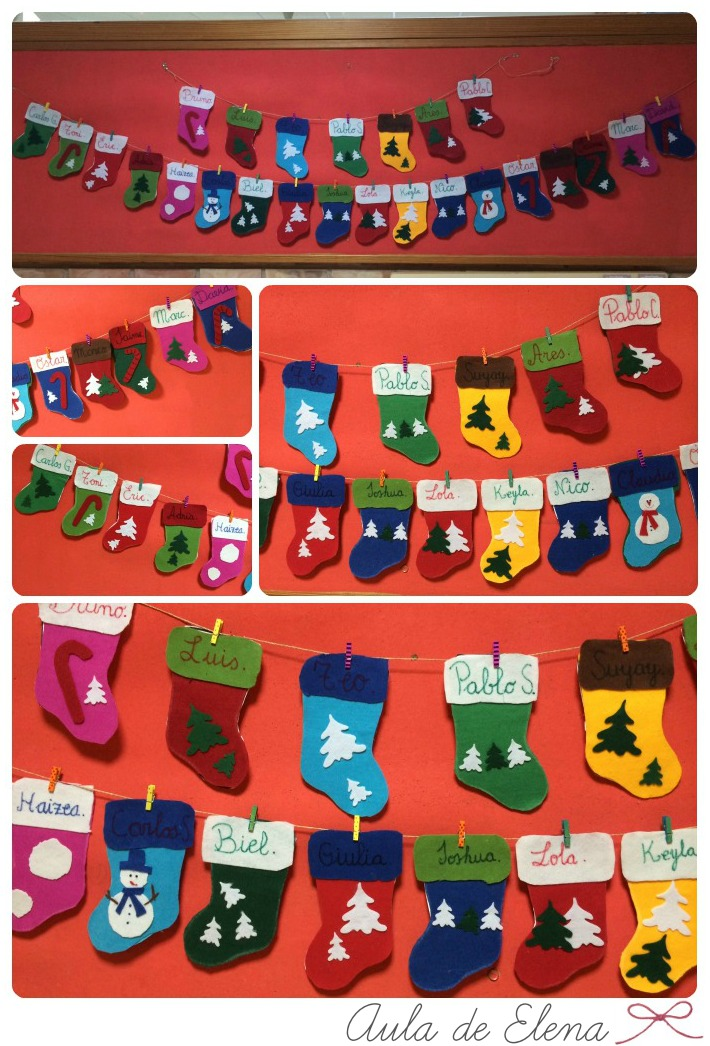 Salon De Clases Decorado De Navidad ~ click en la imagen para acceder al alfabeto)