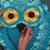 Tapete coruja de crochê, por Diane Gonçalves