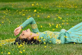 Crescent  Faraz manan 2013 Luxury silk chiffon jacquard