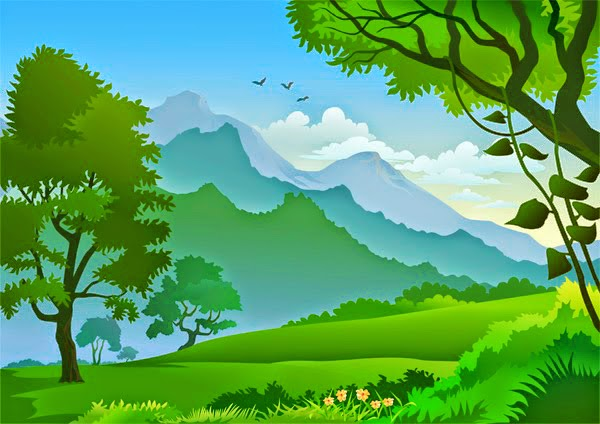 Narrative legend, gunung indah