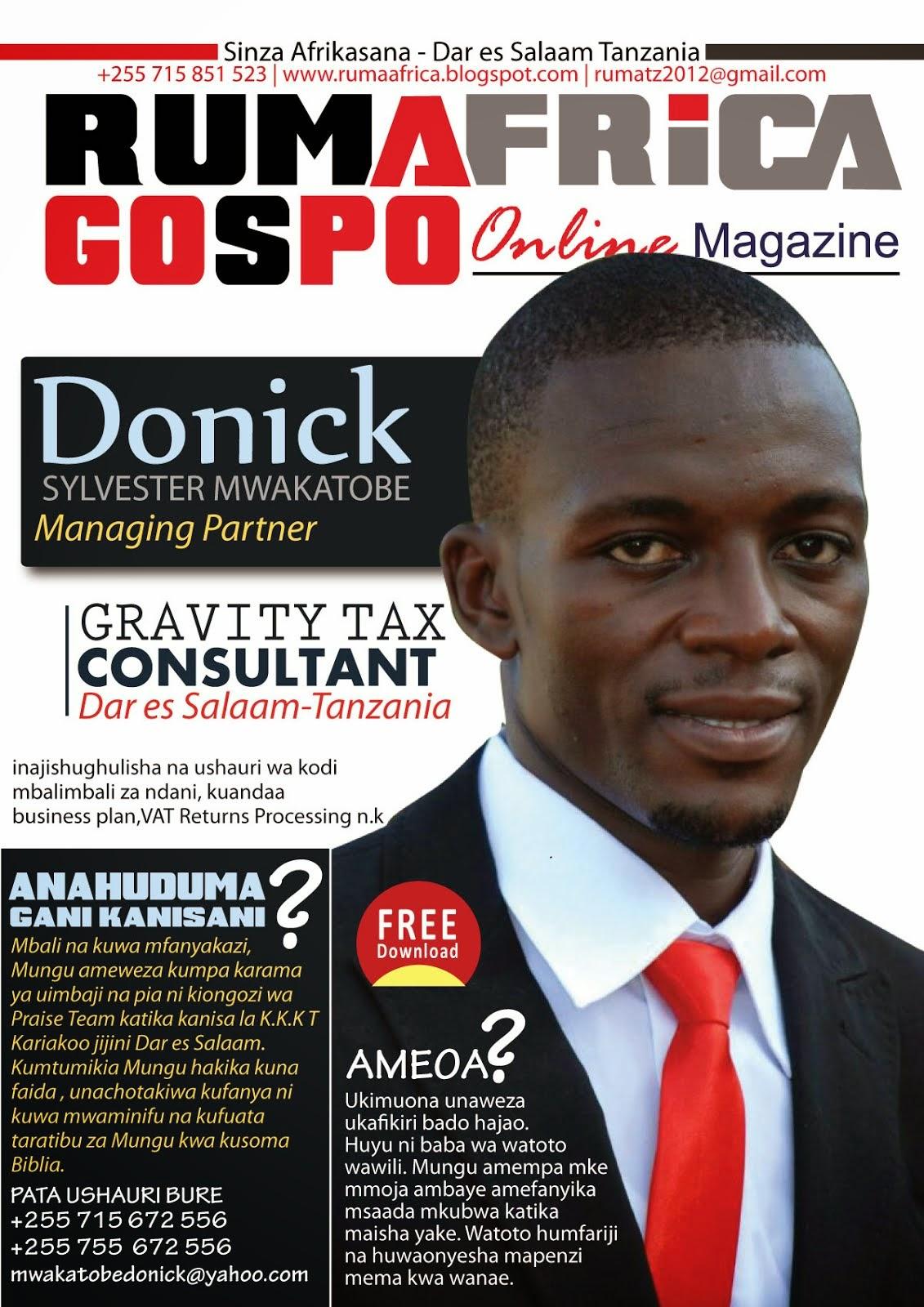 DONICK NDANI YA RUMAFRICA Online MAGAZINE