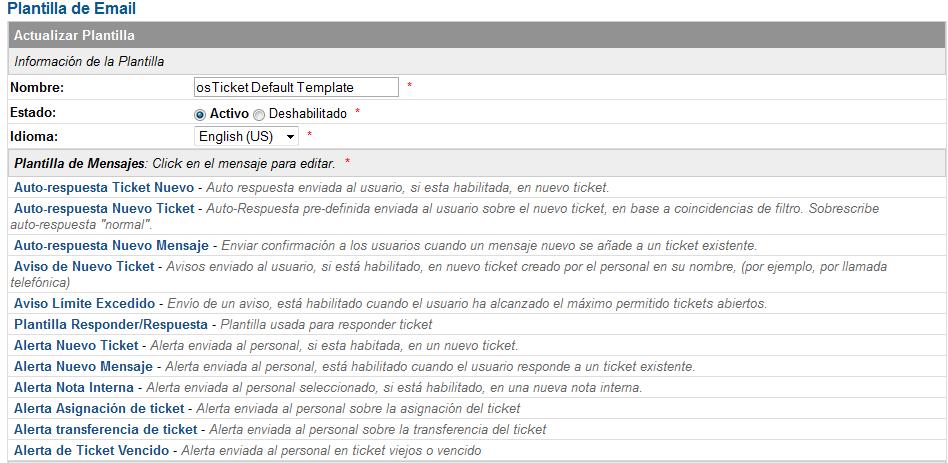 Configurar la plantilla de mensajes de osticket 1-7
