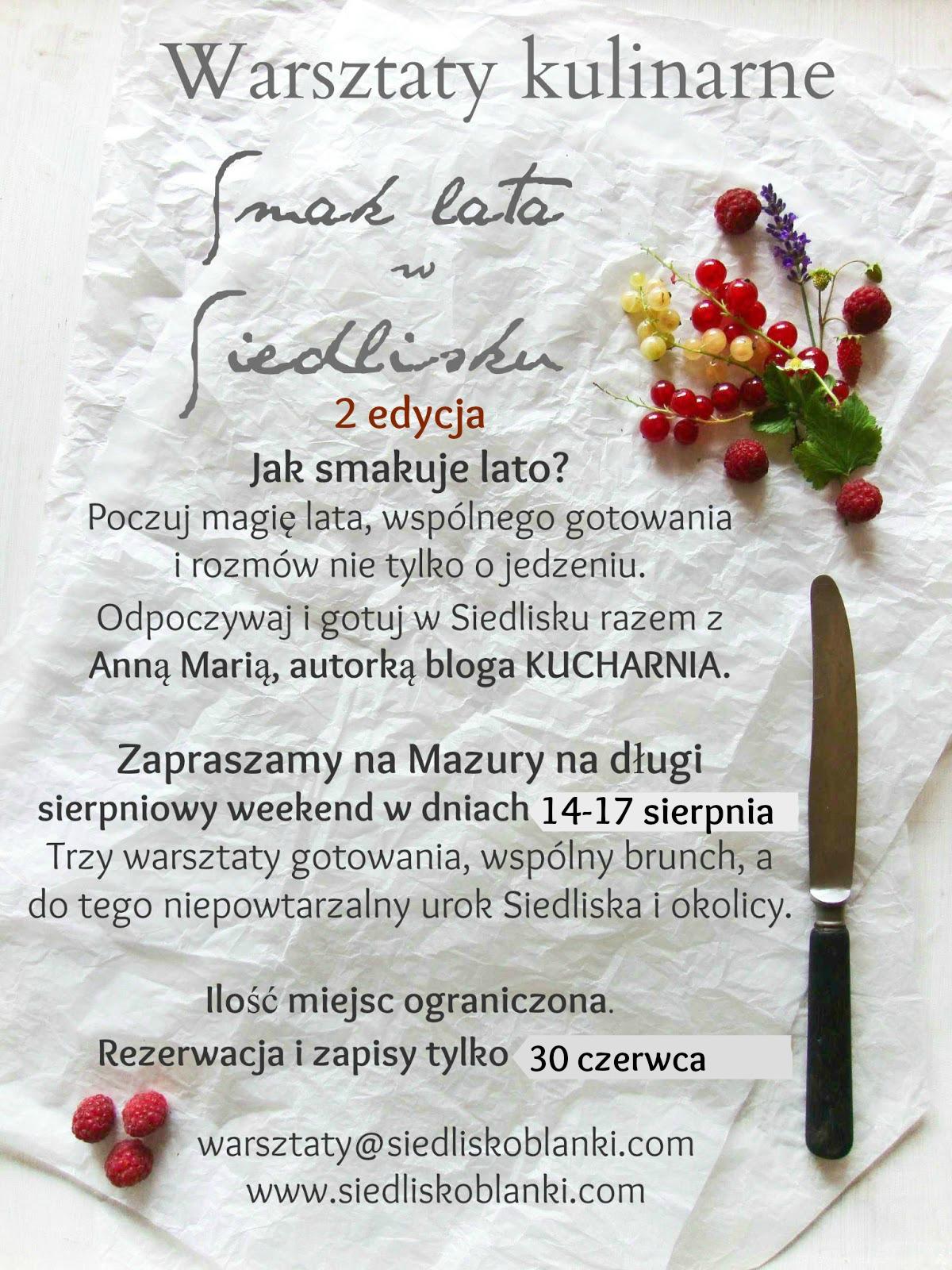 Warsztaty kulinarne SMAK LATA
