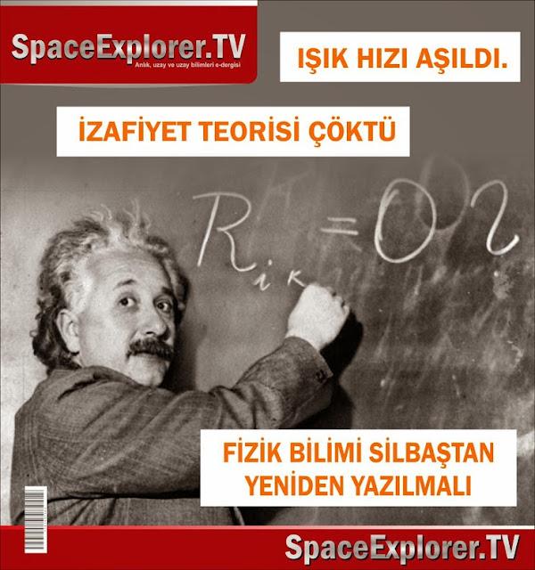 Albert Einstein, CERN, Fizik, İzafiyet teorisi, Işık hızı, Işıktan hızlı yolculuk, videolar,
