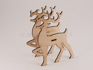 1/24th Reindeer  laser cut kit