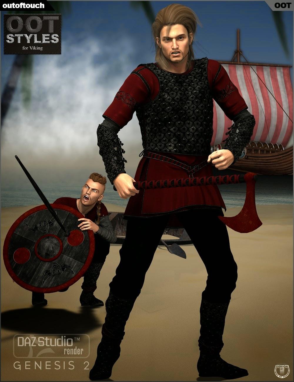 Styles de OOT pour Dark Viking pour Genesis 2 Homme