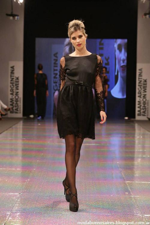 Adriana Costantini otoño invierno 2014 vestidos de moda 2014.