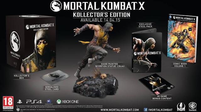 mortal kombat X collectors edition