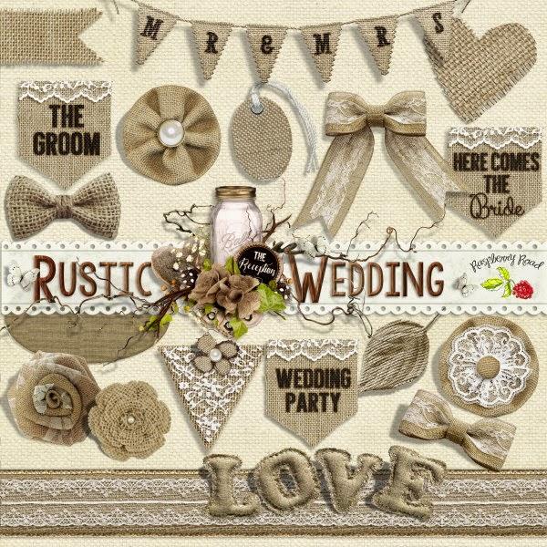 Wedding Scrapbook Kit: Raspberry Road Designs: New Scrapbook Kit & Freebie