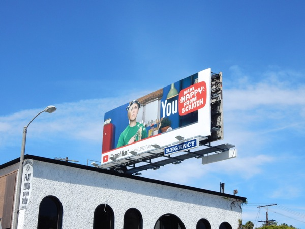 Hannah Hart YouTube billboard