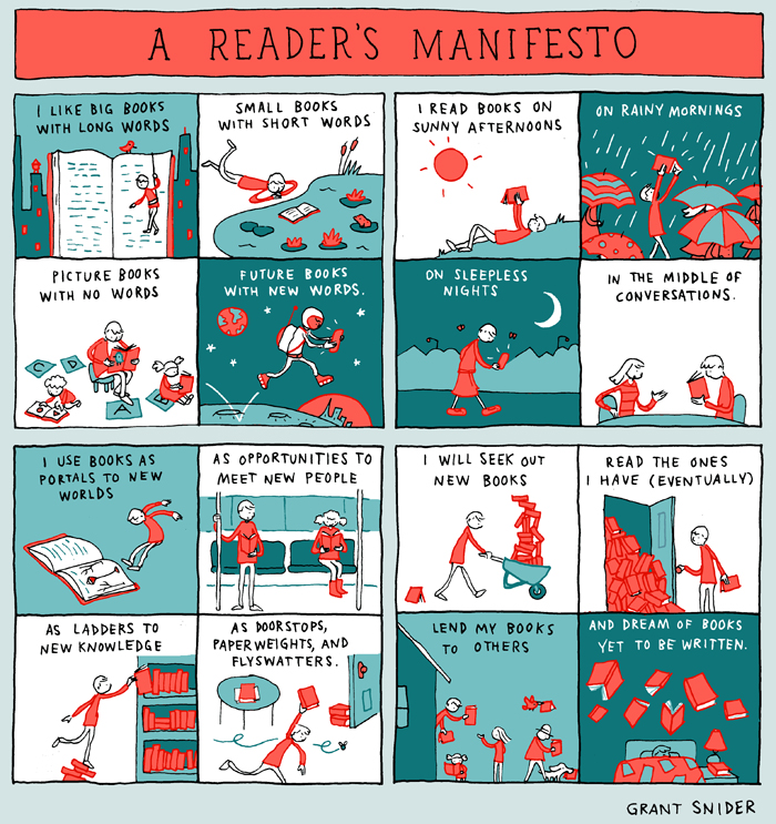 A Reader's Manifesto from Grant Snider
