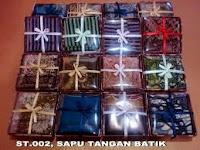 Sapu tangan batik untuk souvenir pernikahan