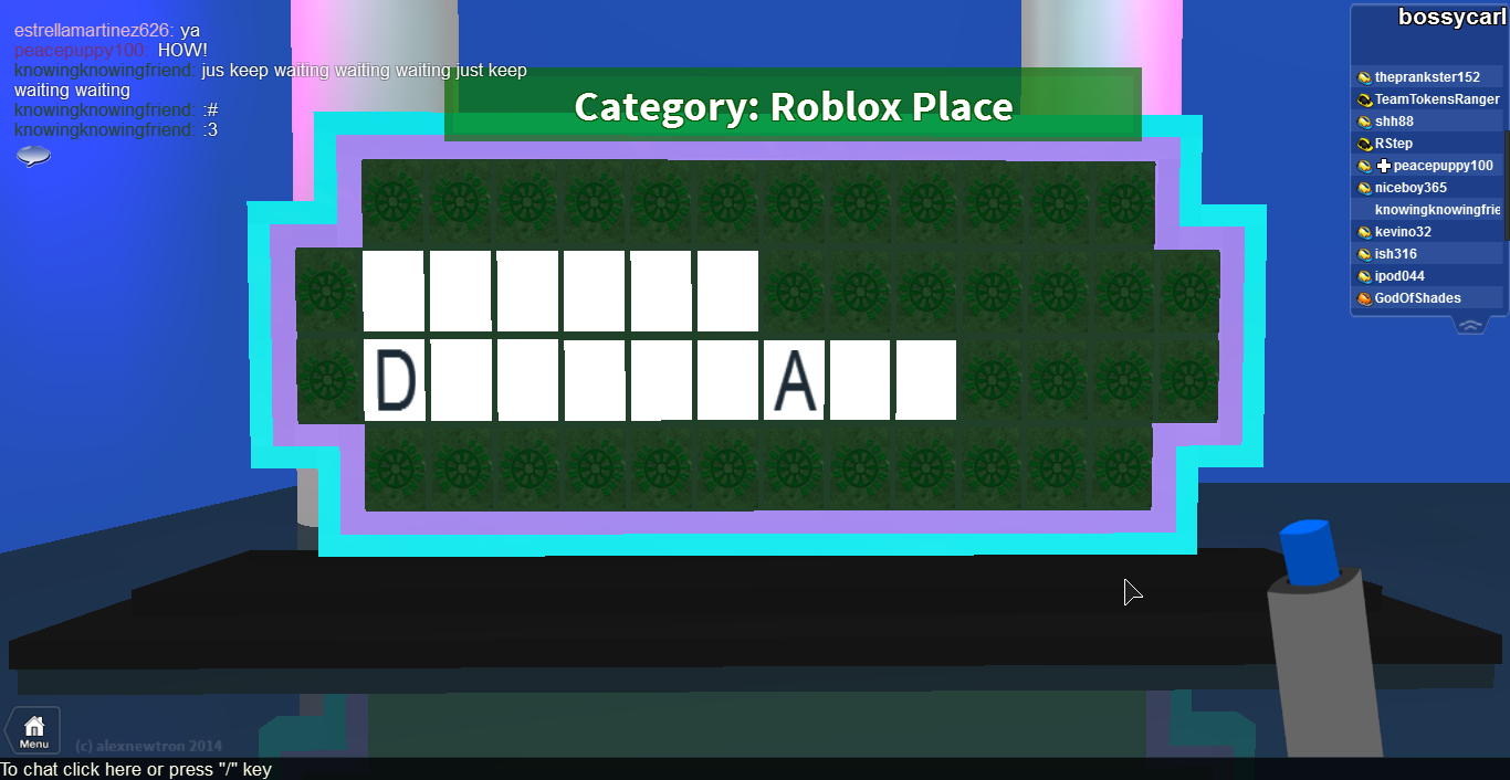 fun and games wheel of fortune answers on roblox