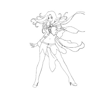 #2 Emma Frost Coloring Page