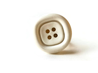 White vintage button ring