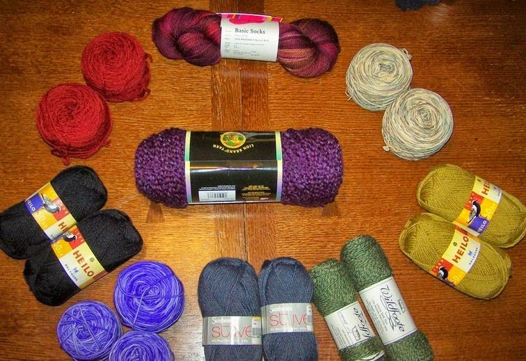 Beautiful soft yarn for socks project - knit and crochet