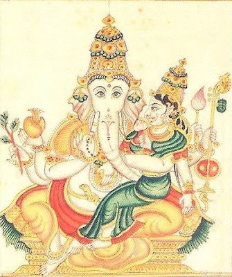 Picture of Ucchista Ganapati Form of Lord Ganesha