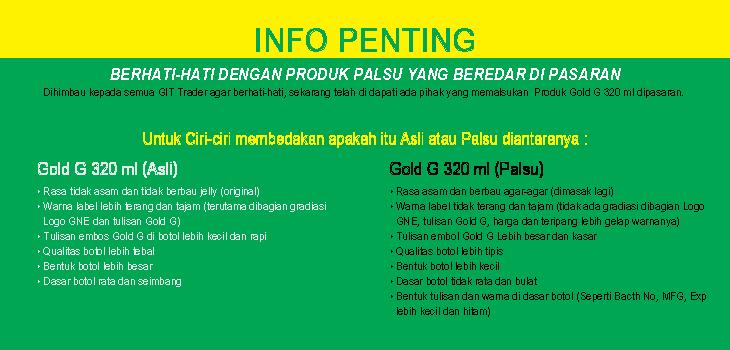 Info Peringatan Produk