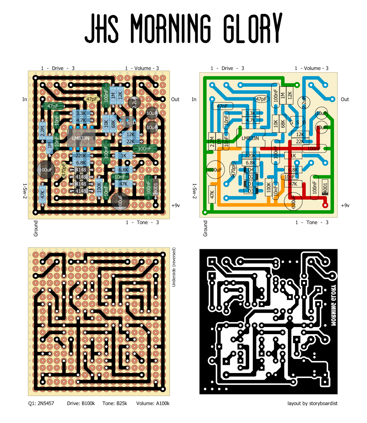 Perf and pcb effects layouts jhs morning glory
