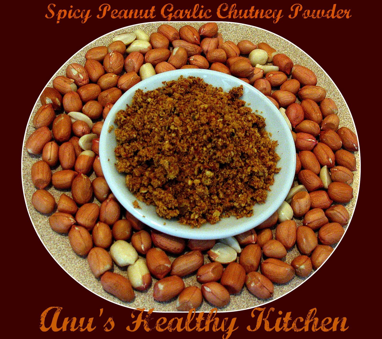 Spicy Peanut Garlic Chutney Powder | the brown eyed bookie