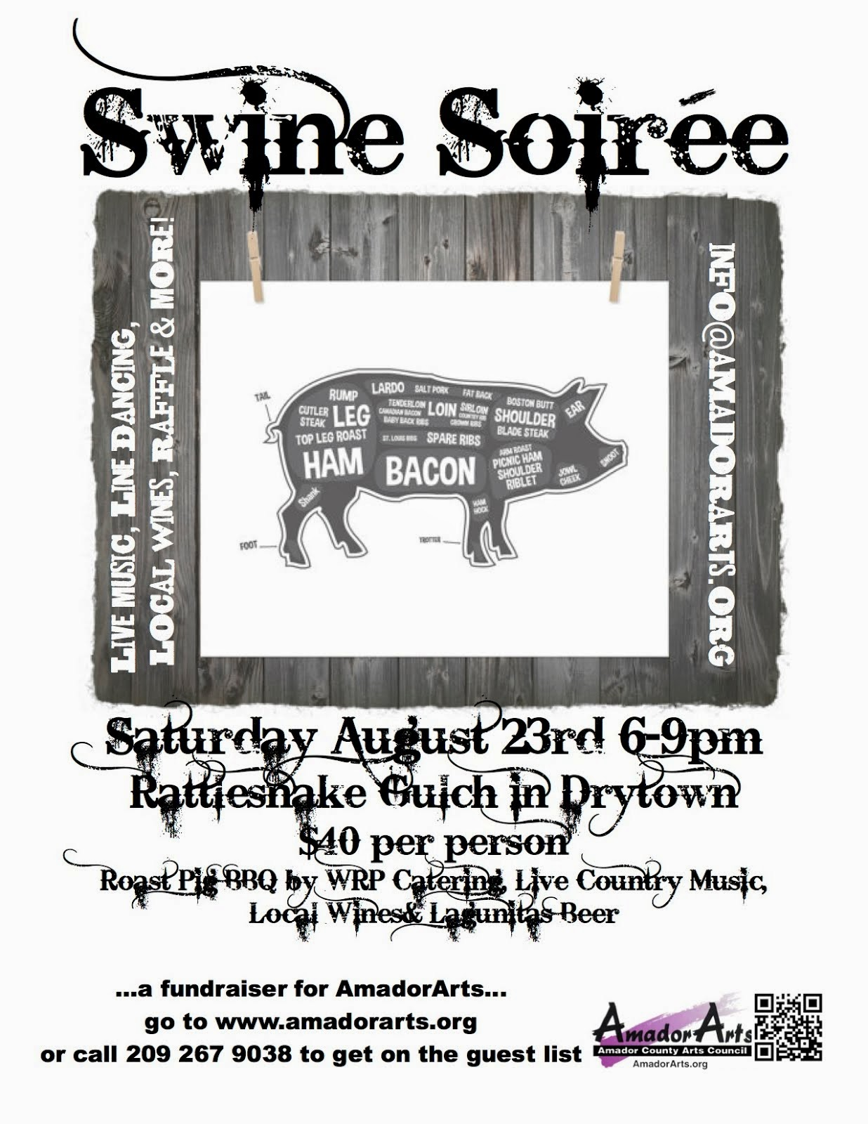 "Amador Arts ""Swine Soiree"" - Sat Aug 23"